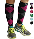 Calf Compression Sleeves Leg Compression Socks - Reduces Shin Splint Muscle Pain Cramps Fatigue - Provides Fast Recovery Better Circulation - 1 or 3 Pairs