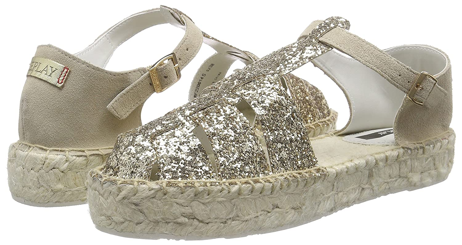Replay (Gold Nevie Damen Espadrilles Gold (Gold Replay Beige 2259) 53a625