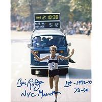$43 » Bill Rodgers Autographed NYC Marathon 1st - 76,77,78,79 8x10 Photo