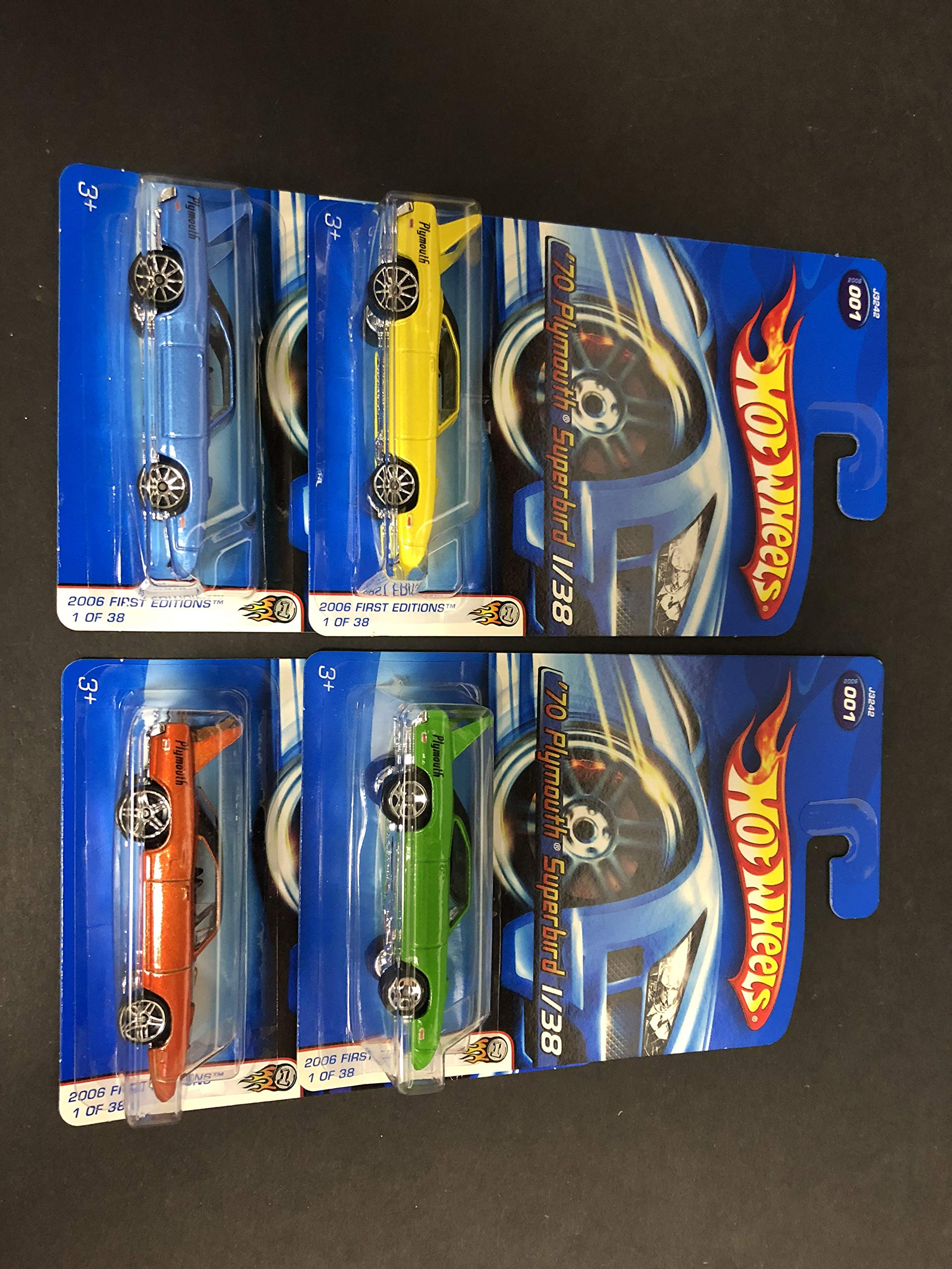 '70 Plymouth Superbird Lot ~ 2006 Hot Wheels First Editions ALL FOUR COLORS