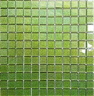 Mosaikfliesen grün  Glasmosaik Mosaik Fliesen Grün Uni 23x23x8mm: Amazon.de: Baumarkt