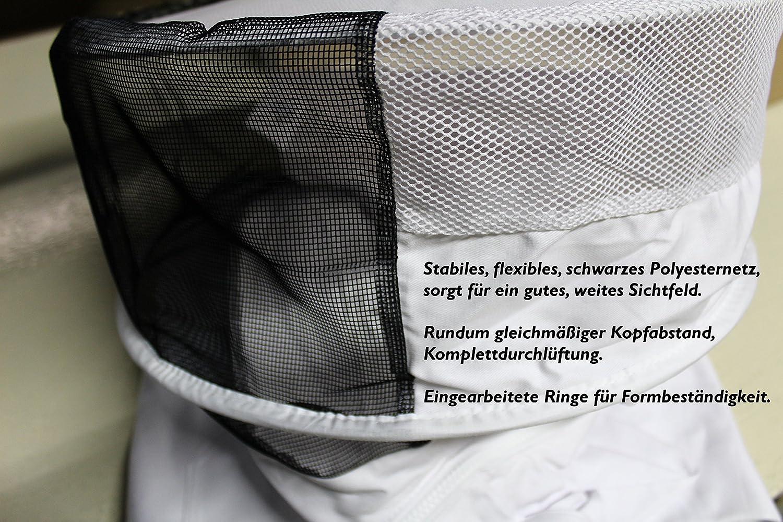 T/ÜV Zertifiziert abnehmbare Haube//Imkerhut F/örster-Fellnest Qualit/äts optimale Grammatur weiter Schnitt Imkerjacke aus 100/% atmungsaktiver Baumwolle Gr/ö/ßen von 128 bis 5XL