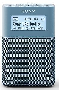 Sony XDRV20DL.EU8 - Radiodespertador Digital portátil (Dab/Dab+/FM, Altavoces estéreo, 5 presintonías Digitales y 5 analógicas, Temporizador, batería integrada) Azul
