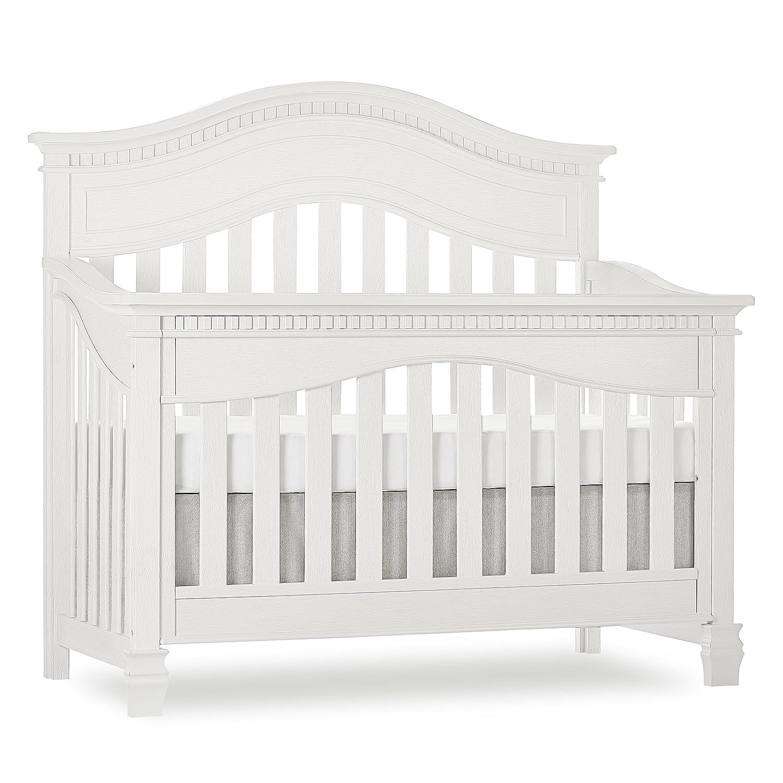 amazon com evolur cheyenne 5 in 1 convertible crib in brush white
