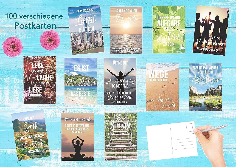 Set 100 Postkarten Leben Momente Mit Spruchen Einfuhrungspreis