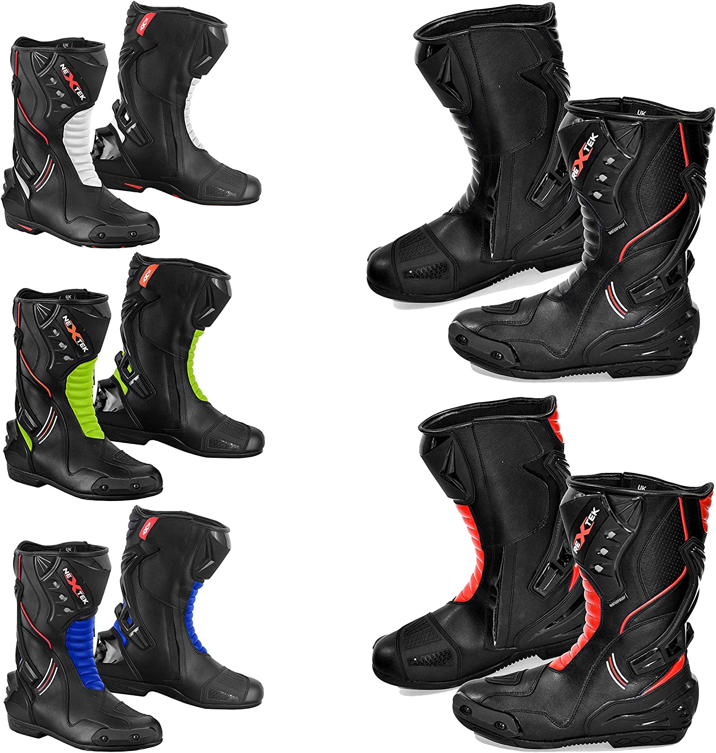 UK 11 PROFIRST 100/% Genuine Leather Waterproof Motorbike Boots Off Road Adventure Touring Motorcycle Shoes High Long Ankle Casual Racing Sports Touring Cruise Full Black EU 45