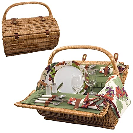 Picnic Time Barrel Picnic Basket, Service for 2