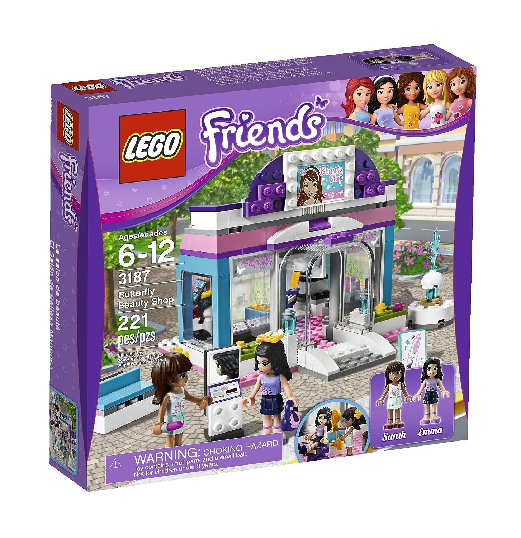 Amazoncom Lego Friends Butterfly Beauty Shop 3187 Toys Games