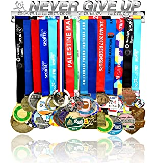 Gumball Medal Hanger for Women Made by Solid Stainless Steel and Mounting Accessories Included Over 50 Medals Display