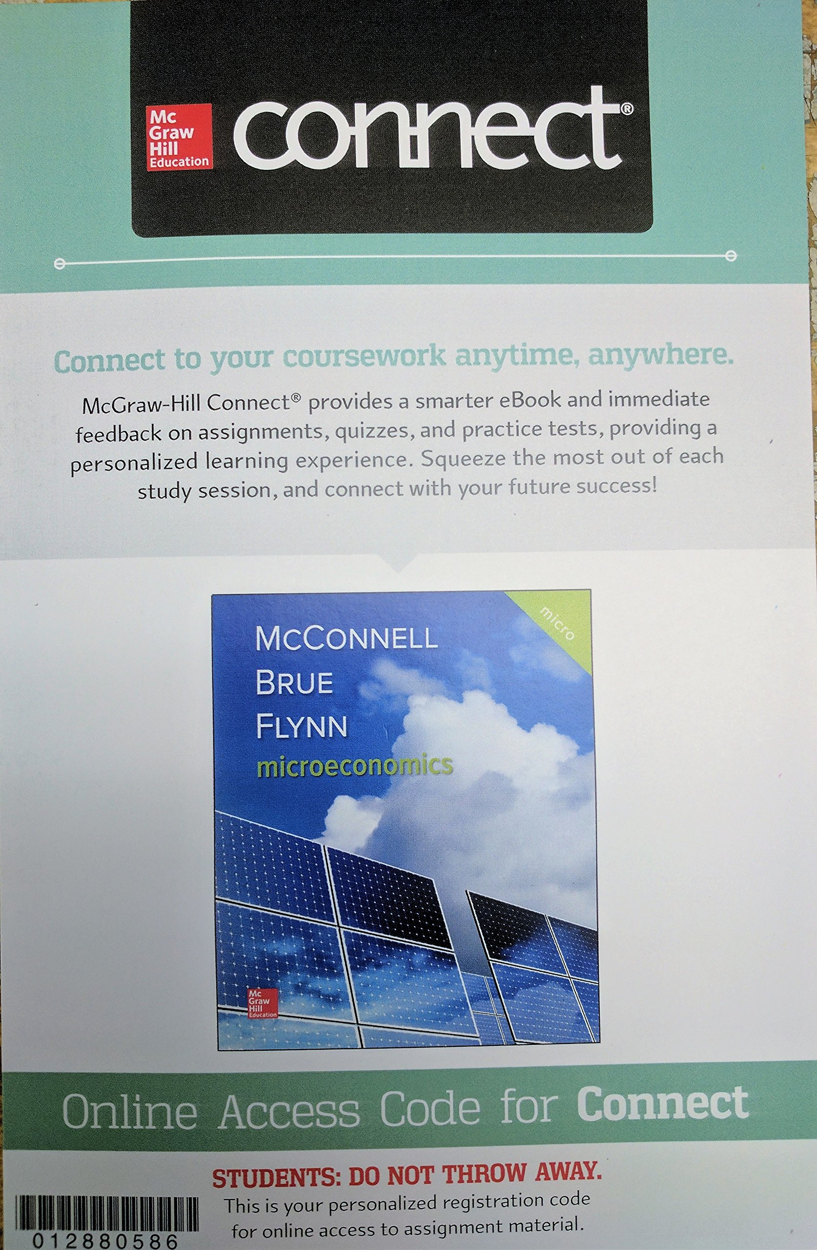 Connect Access Card for Microeconomics: Campbell McConnell, Stanley Brue,  Sean Flynn: 9781259915734: Amazon.com: Books
