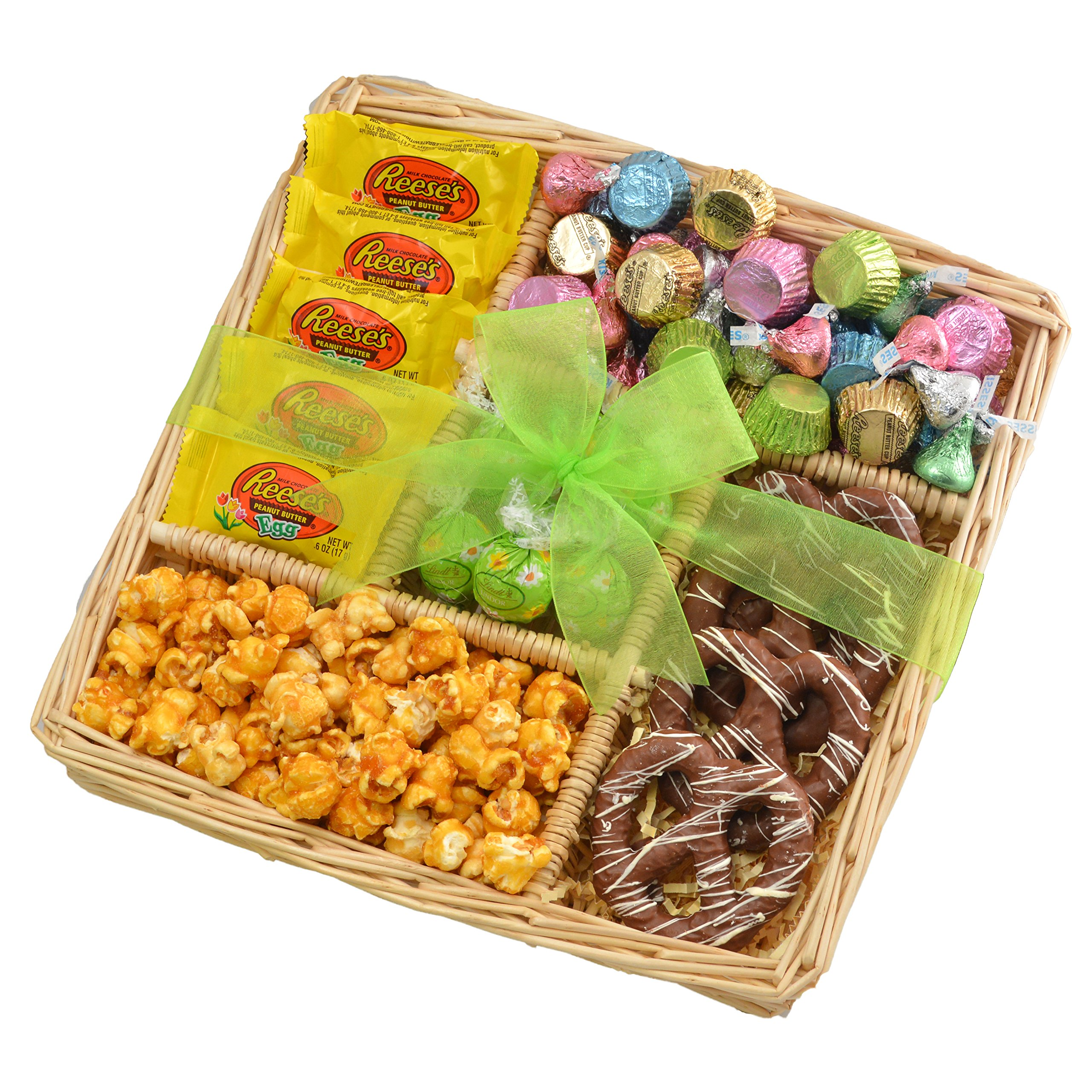 Amazon broadway basketeers easter gift basket gourmet broadway basketeers easter basket 5 section chocolate easter gift tray easter basket assortment springtime easter negle Image collections