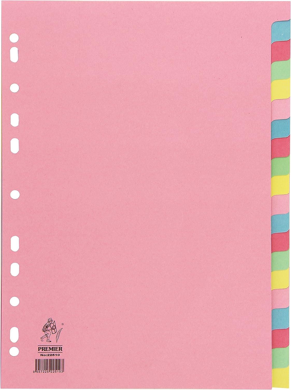 White Box - Juego de separadores para archivador (tamaño A4, 20 unidades), multicolor