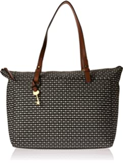4bd52fed20 Fossil Rachel Satchel Handbag, Black Dot: Handbags: Amazon.com