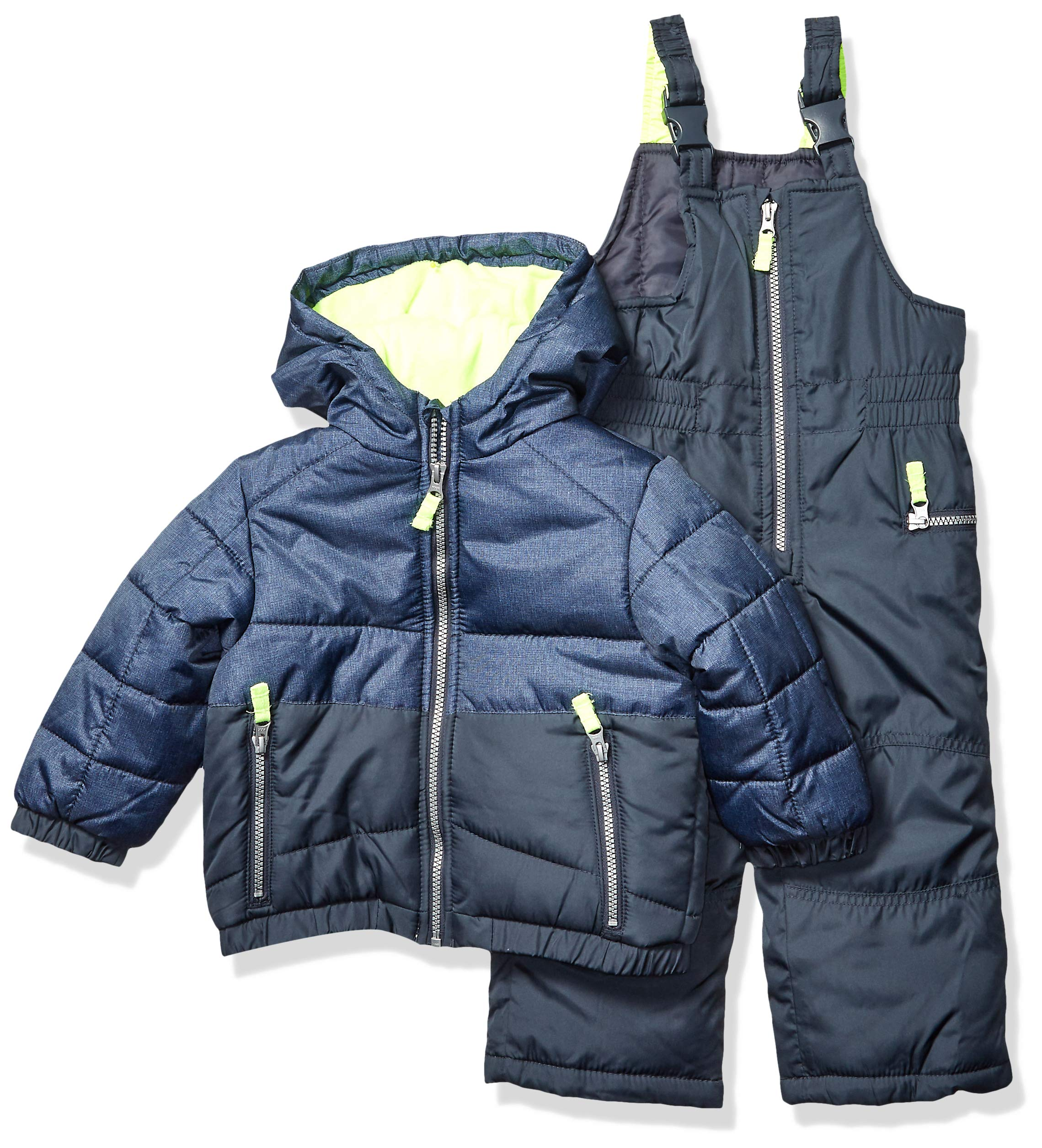 Carter's Boys' Toddler Heavyweight 2-Piece Skisuit Snowsuit, Azul with Yellow pop, 2T by Carter's