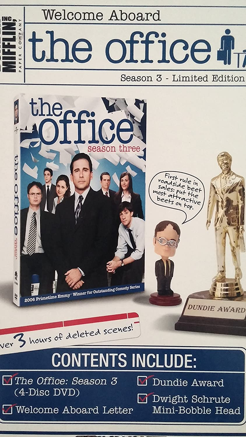 The Office Season 3 - Limited Edition W/ Dundie Award & Dwight