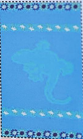 Toalla - toalla de playa 100% algodón egipcio tamaño 90 x 170 cms Ref 14 Salamandra: Amazon.es: Hogar