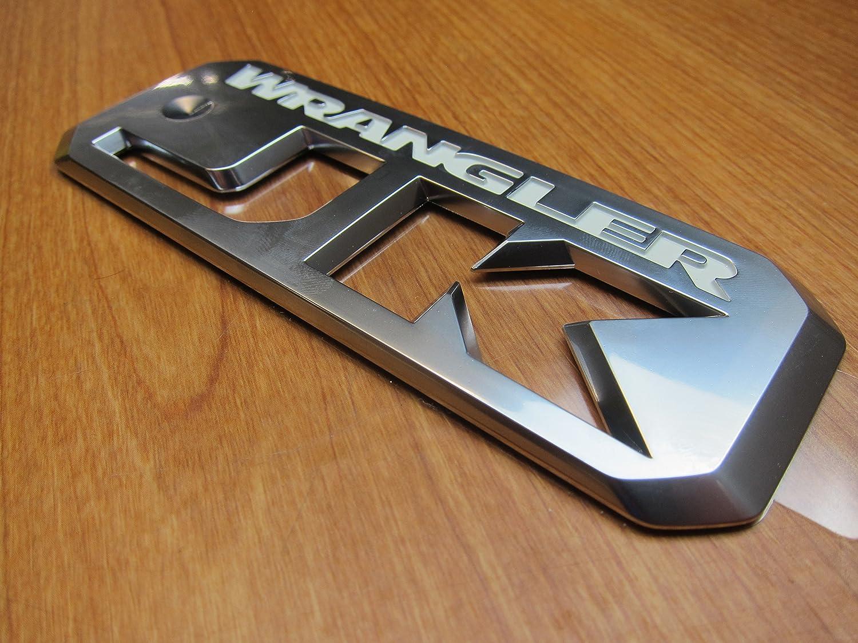 Mopar Jeep Wrangler JK Silver /& White Emblem Sticker Decal OEM