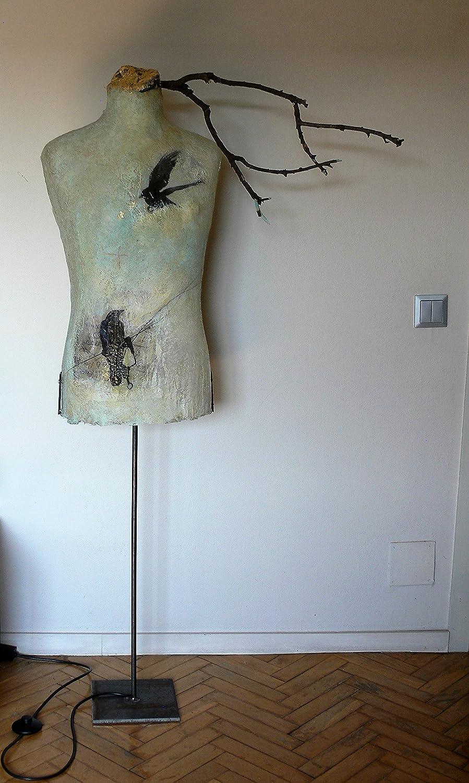 Moderna lampara de pie para salón - escultura con forma de ...