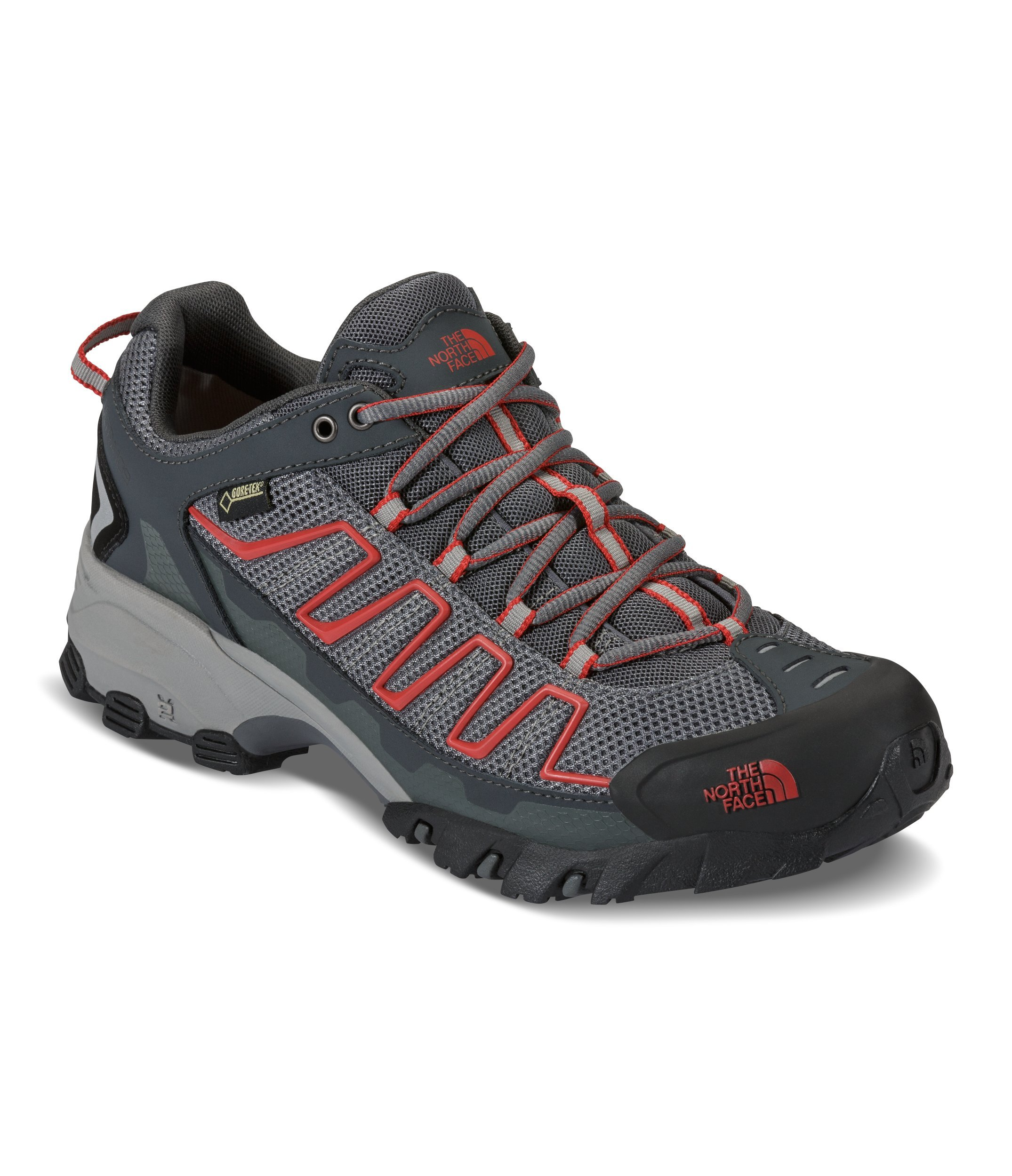 The North Face Mens Ultra 109 GTX Hiking Shoe Zinc Grey/Pompeian Red - 7.5 D(M) US