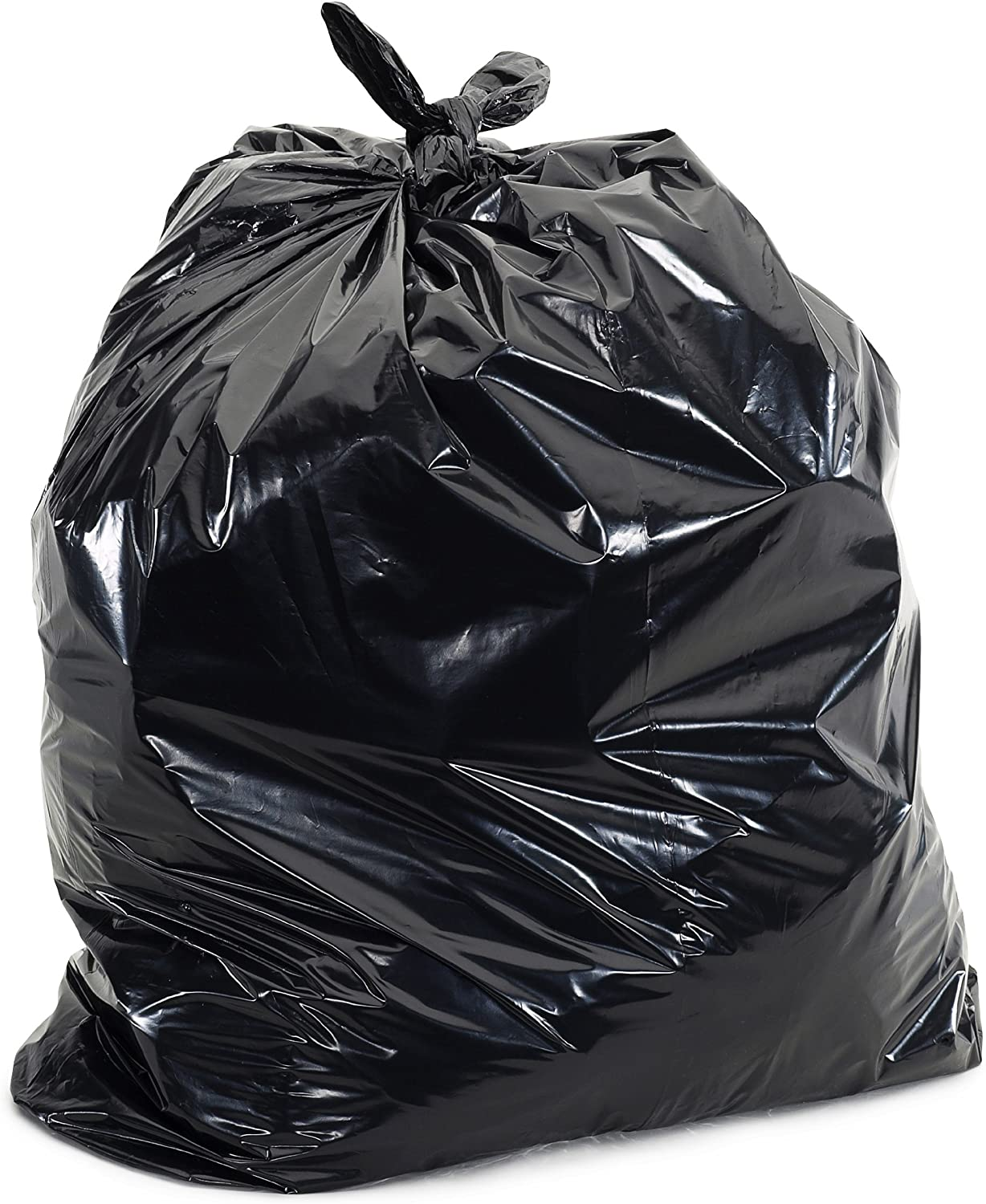 Plasticplace - W14LDB 12-16 Gallon Trash Bags ¦ 1.2 Mil ¦ Black Garbage Can Liners ¦ 24