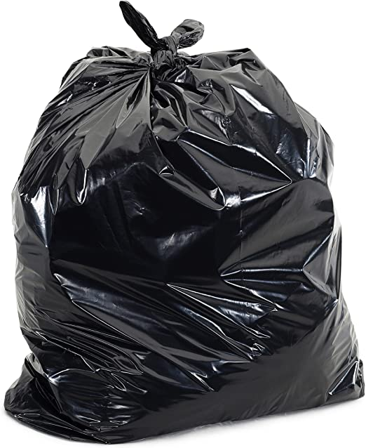 Plasticplace 55 Gallon Trash Bags │ 1.5 Mil │ Black Garbage Bags 38 X 58 75Count