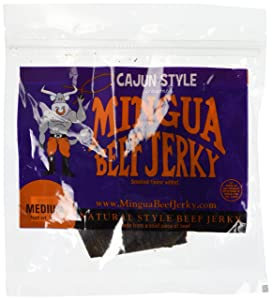 Mingua Cajun Style Beef Jerky 4 Pack (4-3.5oz Packages 14oz total)