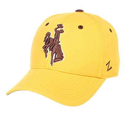 Amazon com : Zephyr Men's Wyoming Cowboys DHS ZWOOL Fitted HAT-Gold