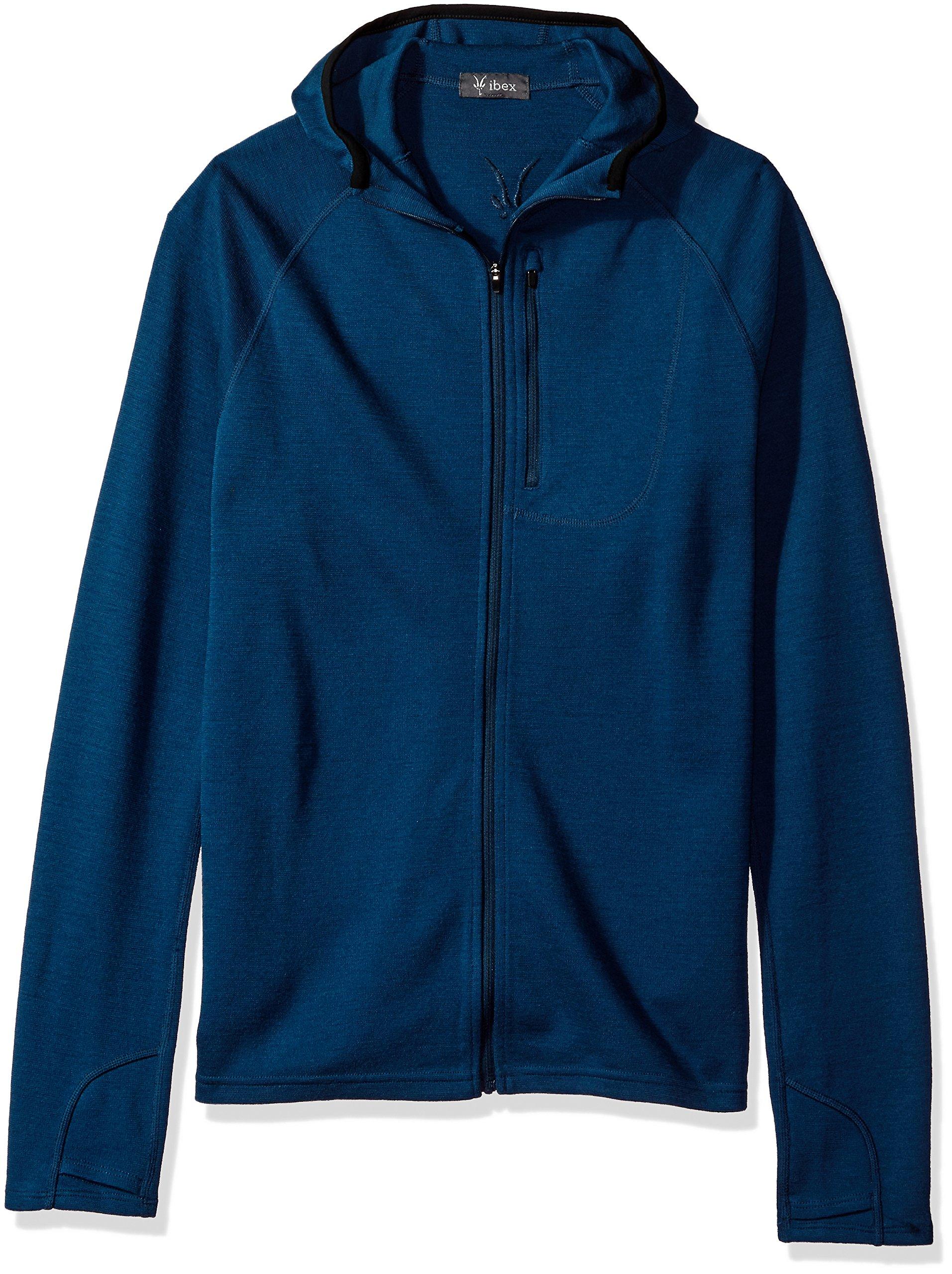 Ibex outdoor Clothing Merino Wool Shak Hoodoo Hoody, Tundra, Medium
