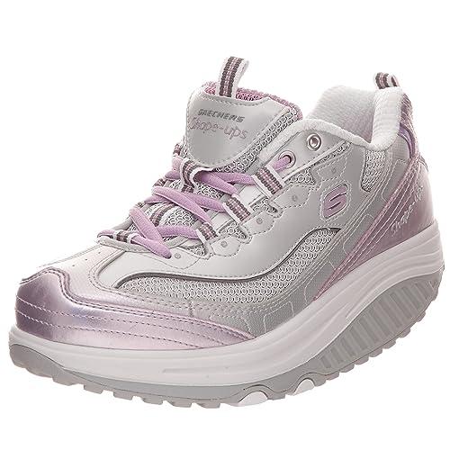 Skechers Shape Ups-Stability - Zapatillas de deporte para mujer, color gris, talla 40: Amazon.es: Zapatos y complementos