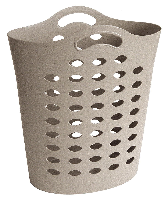 Sundis 4101024 Flexy Bag Panier à Linge Souple Polyéthylène Taupe 52 x 29 x 61 cm