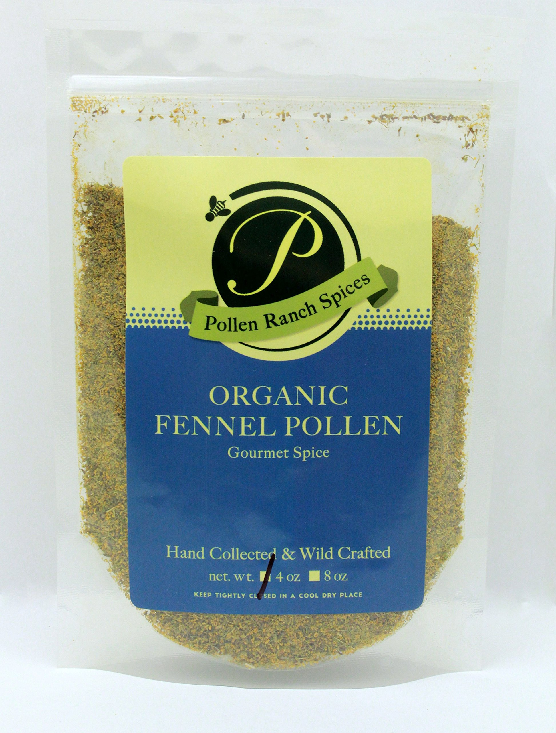 Pollen Ranch Wild Crafted, Organic Fennel Pollen 4 Oz Resealable Pouch