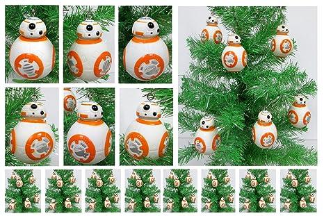 "STAR WARS BB8 Set of 6 Christmas Tree Ornaments - Shatterproof Plastic  Design Around 3"" - Amazon.com: STAR WARS BB8 Set Of 6 Christmas Tree Ornaments"