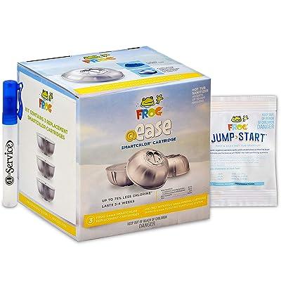 Frog Ease Smartchlor Cartridges 3 Pack, Jump Start Packet for Spa Hot Tubs and Hand Sanitizer Included : Garden & Outdoor