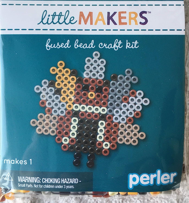 Perler Little Makers Fused Bead Craft kit Autumn Turkey