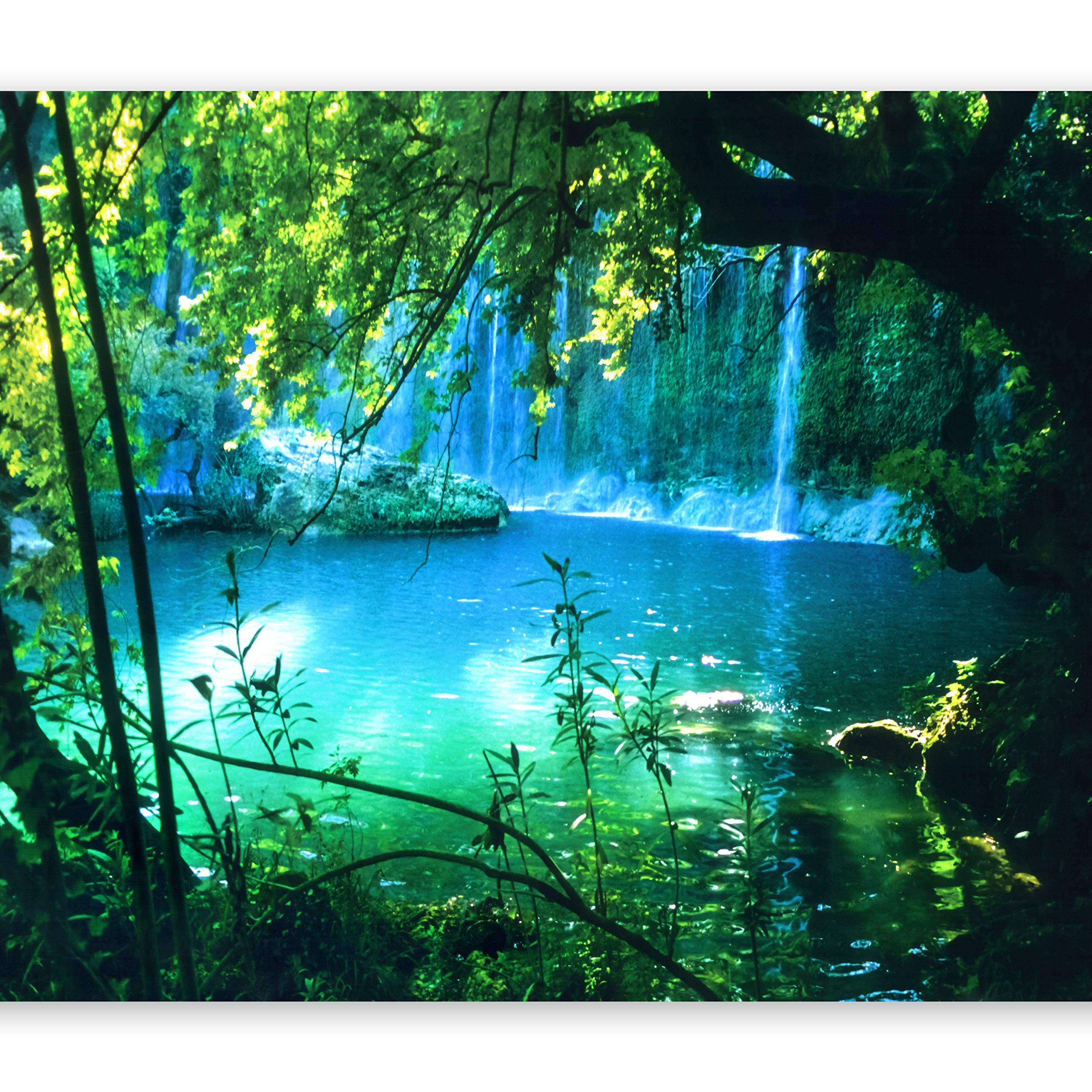 artgeist Photo Wallpaper Waterfall Nature 154''x110'' XXL Peel and Stick Self-Adhesive Foil Wall Mural Removable Sticker Premium Print Picture Image Design Home Decor c-B-0132-a-a