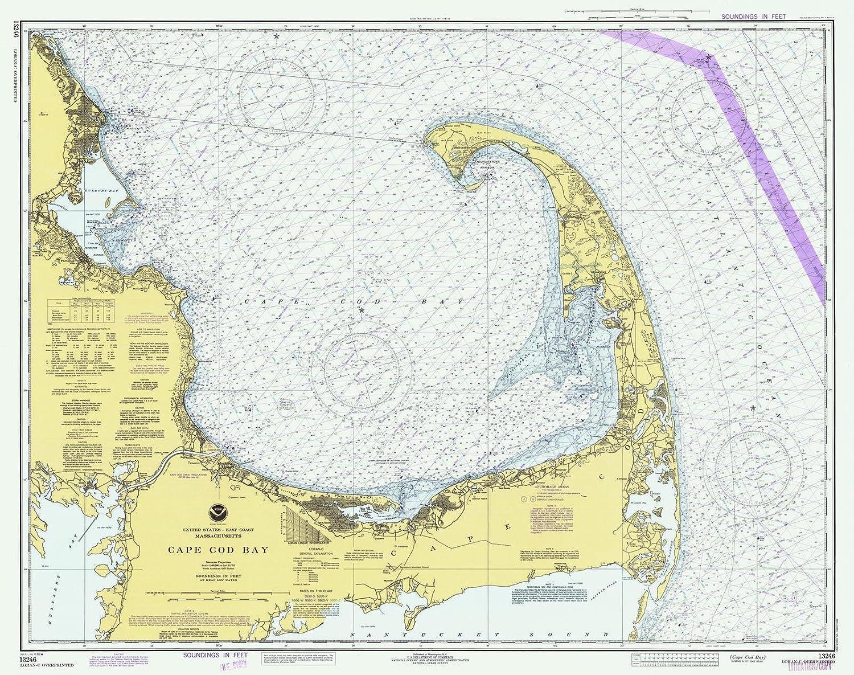 Amazon Com Historic Pictoric Map Cape Cod Bay 1982 Nautical