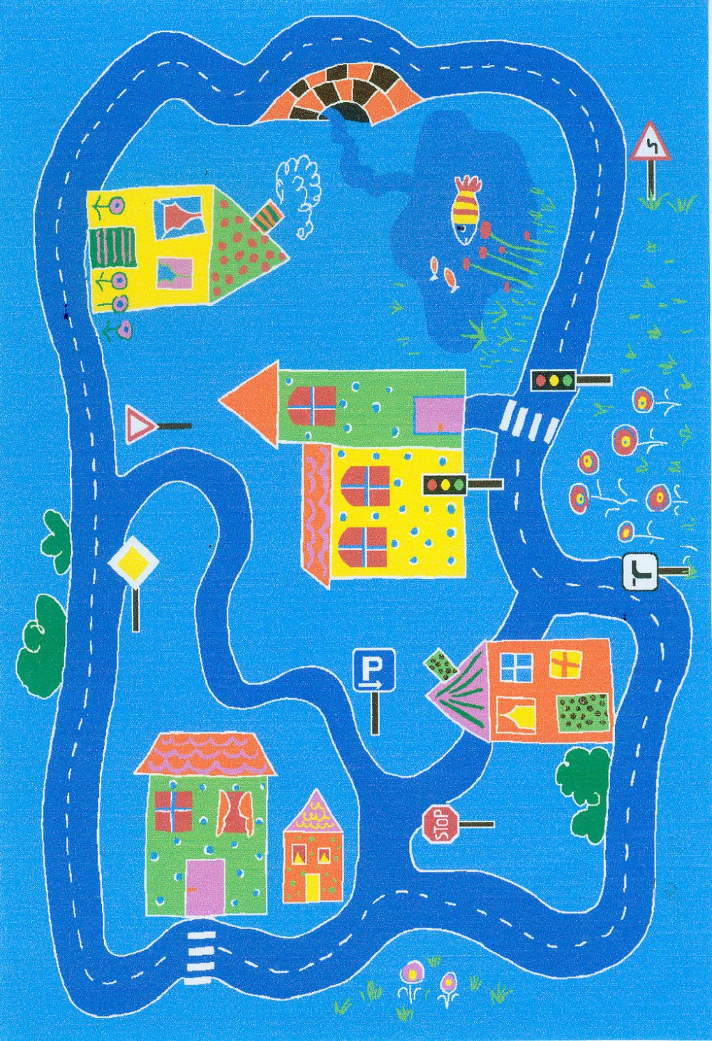 W. Eulberg Kollektion carpet for kids Spielteppich City Modell 2 160 x 240 cm