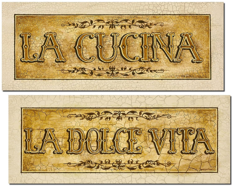 Amazon.com: Beautiful Vintage Italian \'La Cucina\' and \'La Dolce Vita ...