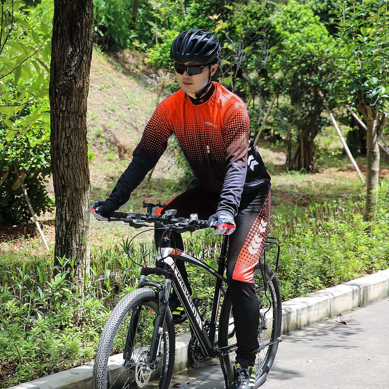 TOMSHOO Radtrikot Set Fahrradbekleidung mit 4D gerhoSitzpolster Langarm Trse Radhose Atmungsaktiv Elastische Fahrrad Trikot fr Radfahren MTB Jogging fr Herren und Damen