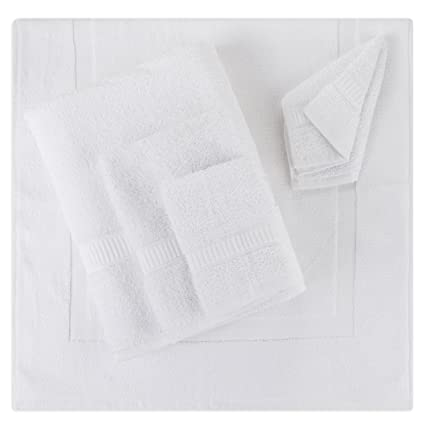 Amazon.com: 5- Piece Bath Mat Set | Matching Bathroom Floor Mat with ...