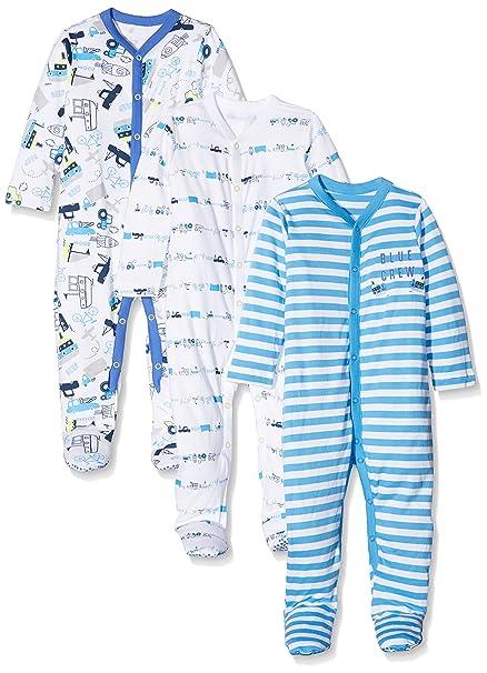 Mothercare Baby Boys  Blue Crew Sleepsuit  Amazon.co.uk  Clothing fee5f81a6