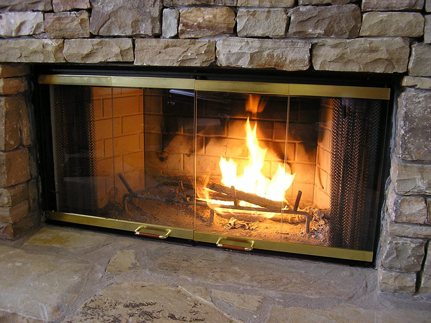 doors stock mainstream gas fireplace in standard ironhaus goes for safety glass