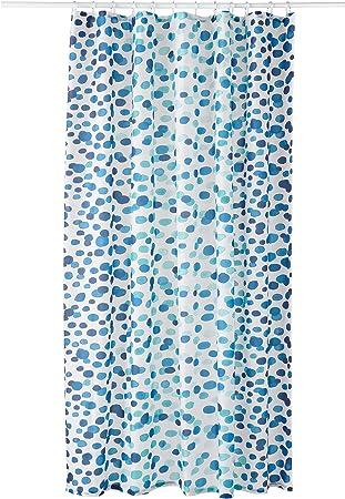 Ikea Skorren Rideau De Douche Blanc Bleu Amazon Fr