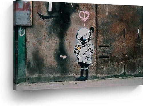 SmileArtDesign Banksy Canvas Print Space Girl
