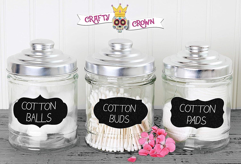 Cowboy Boot Western Chalkboard Mason Jar Labels Set of 6 Self-Adhesive Kitchen Labels