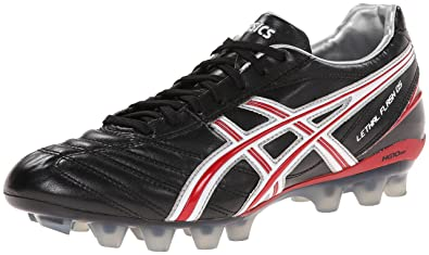 sale retailer daa53 31ad6 ASICS Men s Lethal Flash DS IT Soccer Shoe,Black Fire Red White,