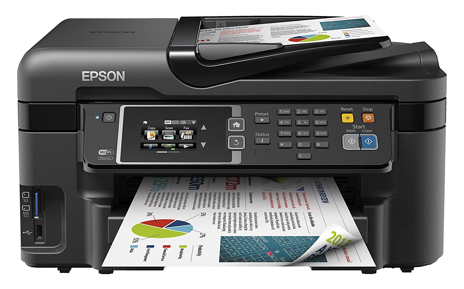 Amazon.com: Epson Workforce Wf-3620dwf A4 ethernet promo max ...