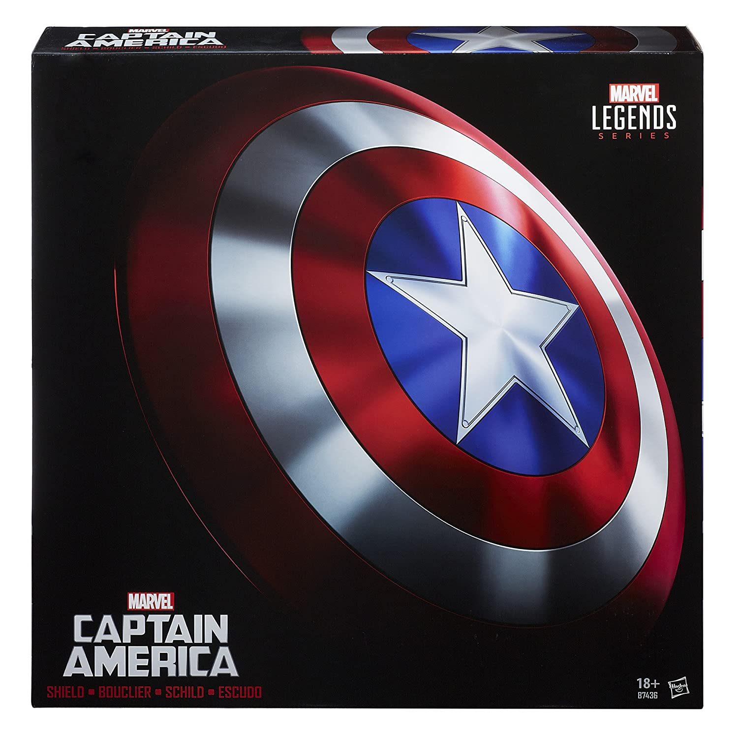 amazoncom the avengers marvel legends captain america shield one size by the avengers toys games - Bouclier Captain America