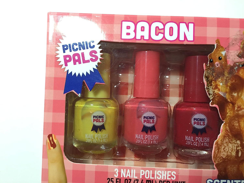 Amazon Com Bacon Scented Nail Polish 3 Piece Set Health Personal Care