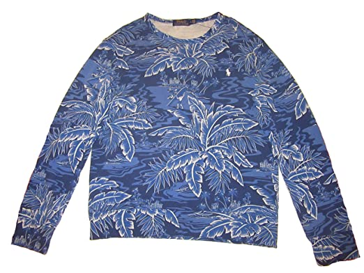 Lauren Mens French Terry Floral Crewneck Polo Surfer Ralph R5Lcj3Aq4S